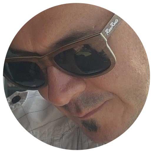 John wearing Raw Roots Sunglasses